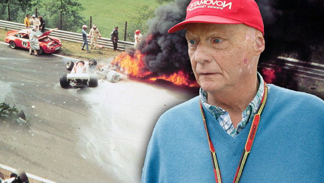 Niki Laudas Crash am Nürburgring vor 40 Jahren (Bild: APA/dpa, EPA/VALDRIN XHEMAJ)