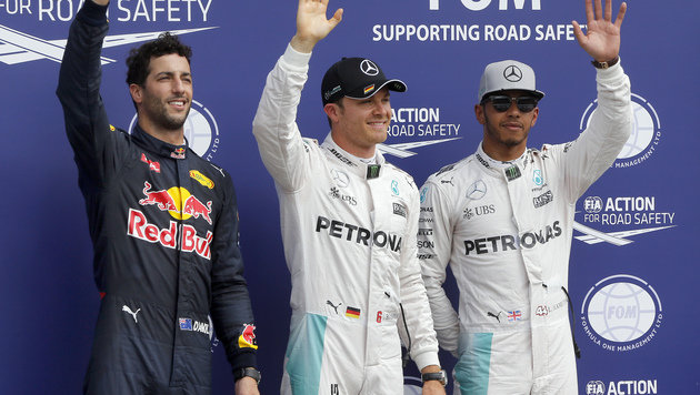 "Pole! Rosberg bremst ""daheim"" Hamilton aus (Bild: AP)"