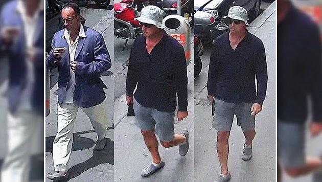 Links ist der Verdächtige nach dem Überfall zu sehen, rechts einige Tage davor. (Bild: LPD Wien)