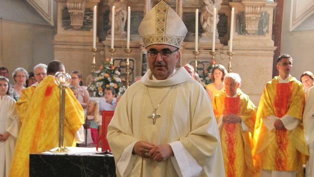 Bischof Krautwaschl bei einer Heiligen Messe (Bild: Christian Jauschowetz)