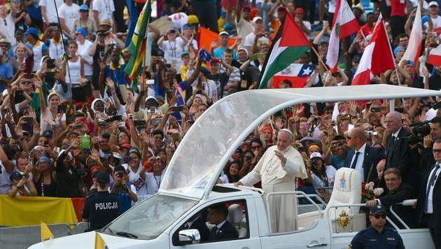 Bis zu 2,5 Millionen feierten Messe mit dem Papst (Bild: AFP or licensors)