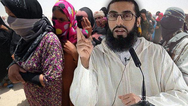 "Imam predigt: ""Frauen sind Sex-Sklavinnen"" (Bild: EPA/MOHAMMED SABER, AFP/AHMAD AL-RUBAYE, Internet)"