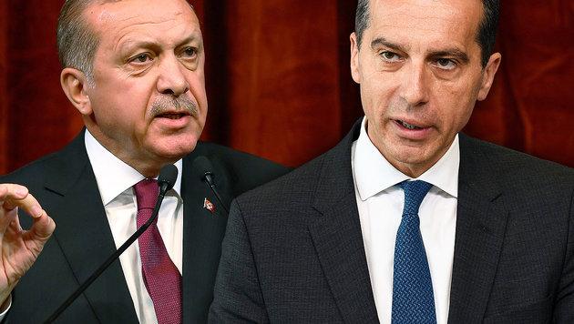 """Inakzeptabel"": Kanzler Kern rüffelt jetzt Erdogan (Bild: AFP/JOHN THYS, AP)"
