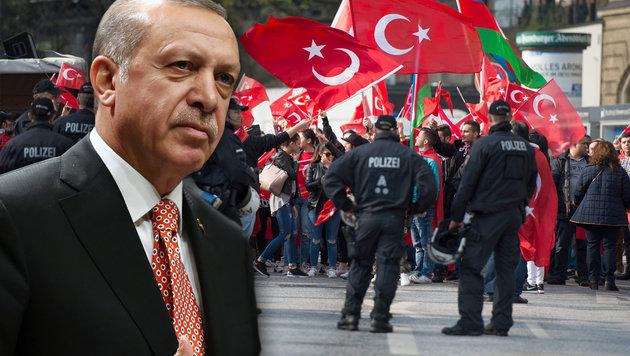 Pro-Erdogan-Kundgebung in Hamburg (Bild: AFP/dpa/Daniel Reinhardt, AP)