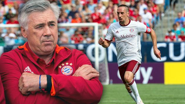 """Ancelotti rügt Ribery: """"Das geht einfach nicht"""" (Bild: AFP/NICHOLAS KAMM, AP/Maja Hitij)"""