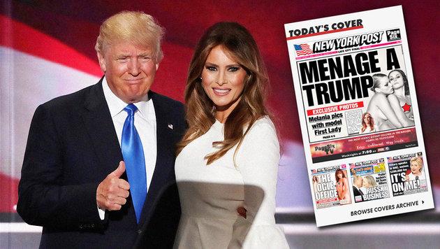 Melania Trump: Nacktfotos aufgetaucht (Bild: AFP/Alex Wong, New York Post)