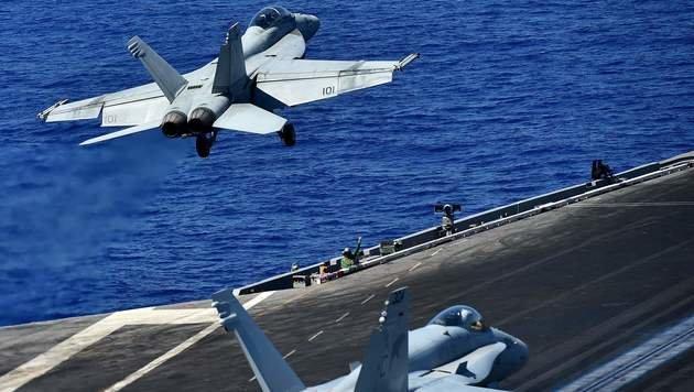 US-Kampfjets fliegen Angriffe gegen IS in Libyen (Bild: AFP)