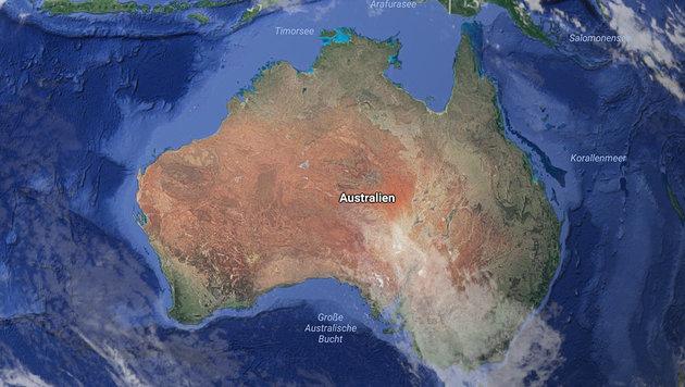 Verrutscht: Australien korrigiert GPS-Daten (Bild: Google)