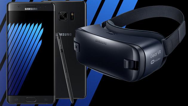Samsung enthüllt Galaxy Note 7 und neue Gear VR (Bild: Samsung, krone.at-Grafik)