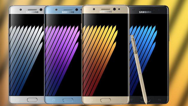 Samsung stoppt nun auch Produktion von Note 7 (Bild: Samsung, krone.at-Grafik)