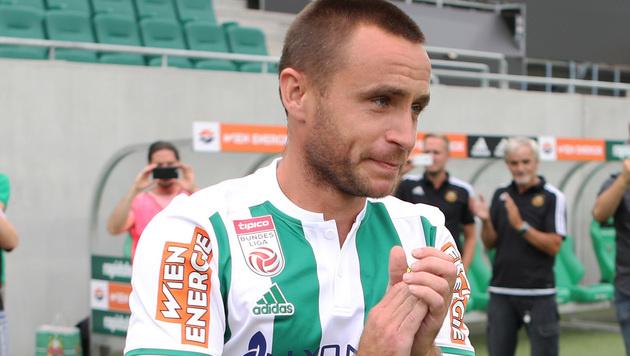 Steffen Hofmann zurück im Rapid-Training (Bild: GEPA)