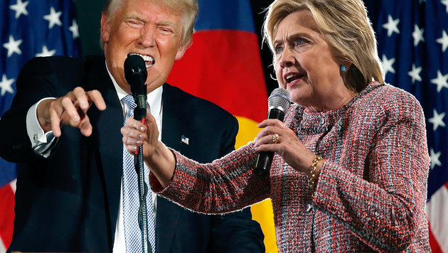 "Trump-Frontalangriff: ""Clinton ist der Teufel!"" (Bild: Alex Wong/Getty Images/AFP, AP)"