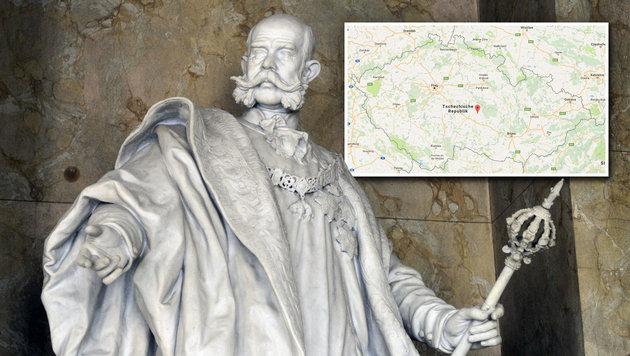 Die kleine tschechische Gemeinde Pohled verehrt Kaiser Franz Josef I. (Bild: APA/HERBERT PFARRHOFER, Google Maps)