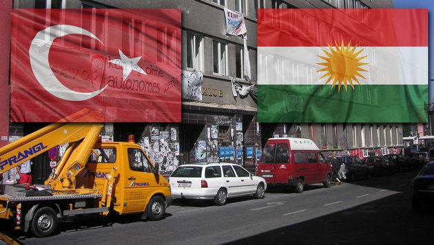 "T�rken-Bande �berfiel ""Kurden-Fest"": Feuer gelegt (Bild: commons.wikimedia.org, thinkstockphotos.de)"