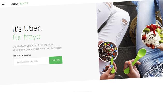 Uber will in Markt für Essenslieferung einsteigen (Bild: ubereats.com)