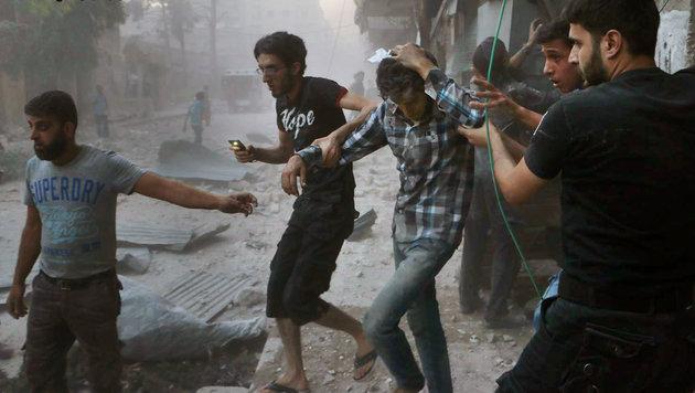 Dieses Kind wurde zum Gesicht des Syrien-Krieges (Bild: AP)