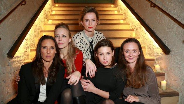Maria Köstlinger, Nina Proll, Adina Vetter, Martina Ebn, Gerti Drassl (Bild: TOPPRESS Austria/Karl Schöndorfer)