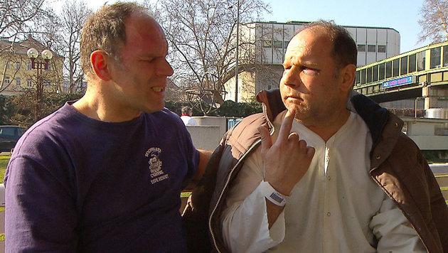 Handfester Nachbarschaftsstreit: Die Zwillinge Peter und Paul wurden krankenhausreif geschlagen. (Bild: ORF)