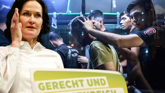 Asyl-Offensive der Grünen löst Polit-Krach aus (Bild: APA/AFP/OZAN KOSE, APA/Gert Eggenberger)