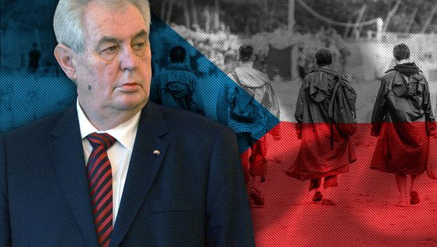 """""""Einreise von Flüchtlingen schafft Nährboden für Terrorattacken"""": Tschechiens Präsident Milos Zeman (Bild: AP, APA/AFP/MICHAL CIZEK, thinkstockphotos.de)"""