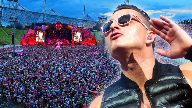 Wie Andreas Gabalier die Massen begeistert (Bild: APA/dpa/Felix Hörhager, Sepp Pail)