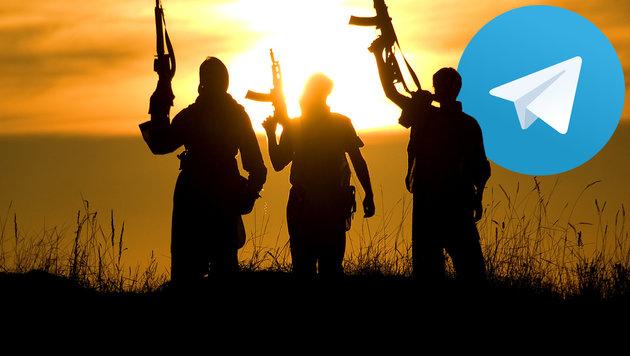 Wie der IS im Web seine Unterstützer radikalisiert (Bild: thinkstockphotos.de, Telegram)