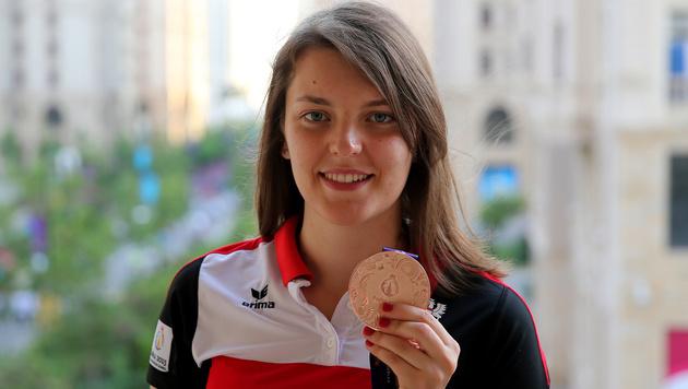 Olivia Hofmann bei den Europaspielen in Baku 2015 (Bild: GEPA)