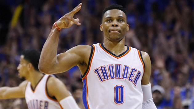 NBA-Star Westbrook verlängert bei Oklahoma (Bild: AP)