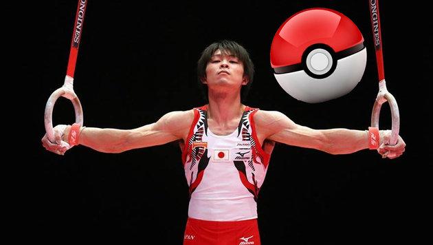 """Olympia-Athlet verprasst 4400 Euro in """"Pokémon Go"""" (Bild: facebook.com/Kohei.Uchimura.Official, fantendo.wikia.com)"""