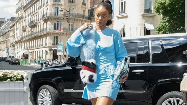 Rihanna Ende Juli in Paris (Bild: Viennareport)