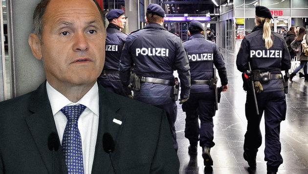 Terrordrohungen gegen unsere Polizeiinspektionen (Bild: APA/HERBERT NEUBAUER, Reinhard Holl)