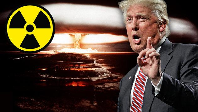 """Trump: """"Warum setzen wir Atomwaffen nicht ein?"""" (Bild: AFP, thinkstockphotos.de, AP/Chuck Burton)"""