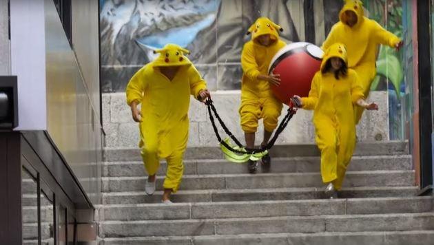 """""""Jetzt schlagen die Pokemons zurück (Bild: Youtube.com)"""""""