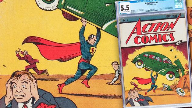 1. Superman-Comic für 1 Million Dollar versteigert (Bild: AP)