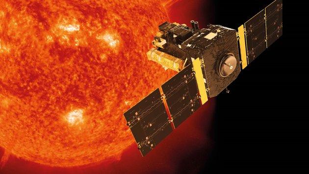 Das Observatorium SOHO liefert stetig Aufnahmen der Sonne. (Bild: ESA/ATG medialab, SOHO (ESA & NASA))