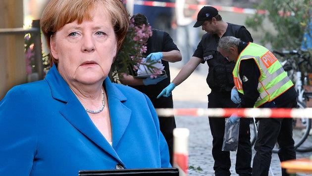Nicht einmal jeder Zweite ist mit Merkel zufrieden (Bild: AP/Michael Sohn, dpa/Daniel Karmann)