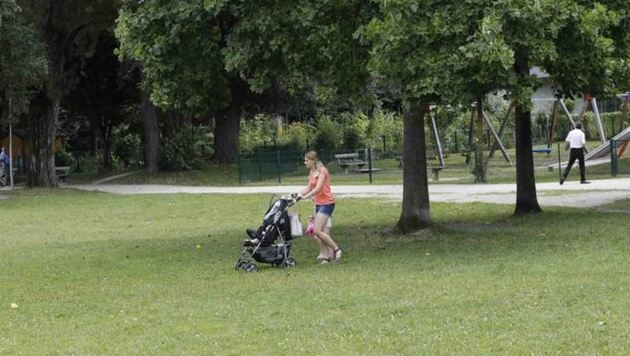 So wünschen sich die Menschen in Schallmoos ihren Park. Doch die Gegend verwandelt sich... (Bild: Markus Tschepp)