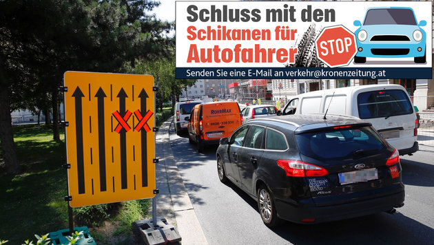 Wien: Täglich neue Kritik an den vielen Baustellen (Bild: Martin A. Jöchl)