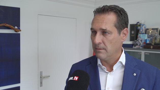 FPÖ-Chef Strache (Bild: krone.tv)