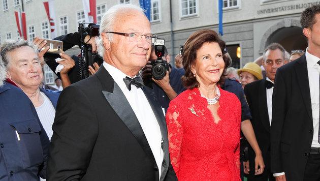 Das schwedische Königspaar - Carl Gustav und Königin Silvia - weilt in der Mozartstadt. (Bild: APA/Neumayr/MMV)