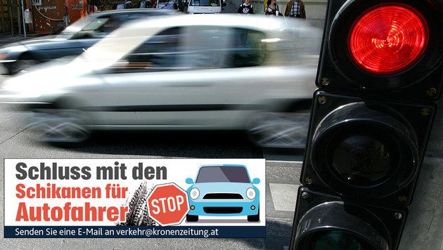 Ärger über zu kurze Grünphase in der Wiener City (Bild: APA/HELMUT FOHRINGER)