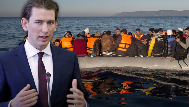 "Kurz: ""Kartenhaus falscher Asylpolitik stürzt ein"" (Bild: AP, APA/EPA/ABEDIN TAHERKENAREH)"