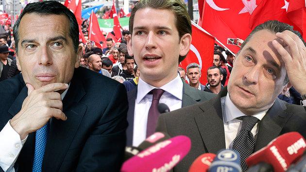 Regierung lässt der Strache-FPÖ kaum noch Luft (Bild: APA/GEORG HOCHMUTH, Bundeskanzleramt, APA/HERBERT P. OCZERET)