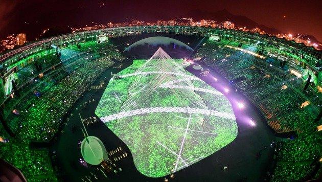 Spektakul�re Projektionen im Maracana-Stadion (Bild: AFP or licensors)