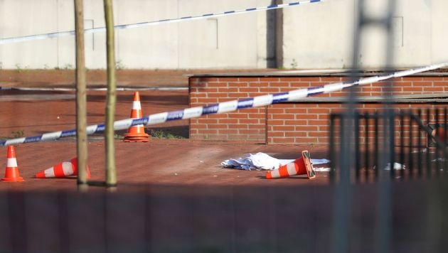 Der Tatort in Charleroi (Bild: AFP)