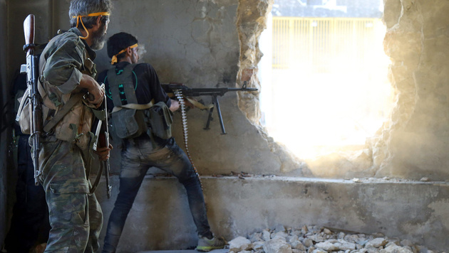 Aleppo: Islamisten durchbrechen Assads Belagerung (Bild: APA/AFP/Fadi al-Halabi)