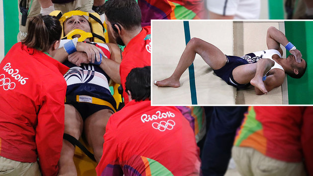 Beinbruch! Horror-Verletzung bei Turnbewerb (Bild: APA/AFP/THOMAS COEX)