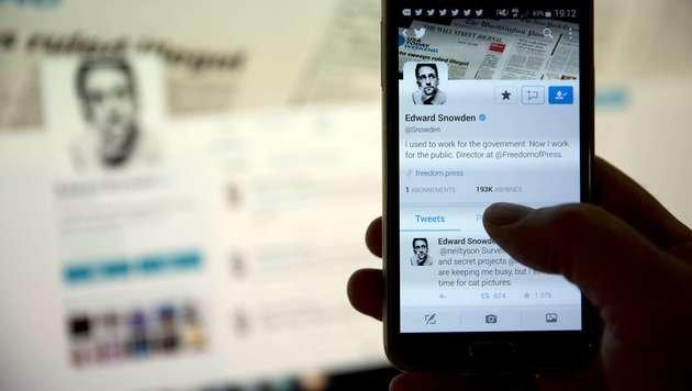 Edward Snowdens Twitter-Seite (Bild: APA/AFP/FLORIAN DAVID)