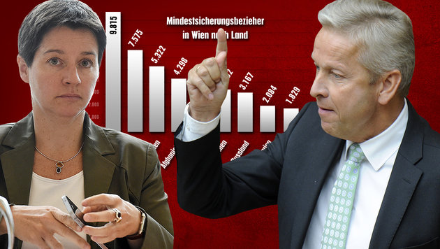 """""""Rechnungshof soll Sozialhilfe-Chaos beenden"""" (Bild: APA/HERBERT P. OCZERET, APA/HERBERT PFARRHOFER)"""