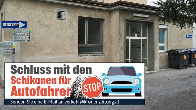 """Hermann Reymaier hat uns diese """"Einbahnbeschilderung"""" zukommen lassen. (Bild: """"Krone""""-Leser Hermann Reymaier)"""
